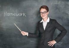 Τρελλός δάσκαλος με το δείκτη Στοκ Εικόνες