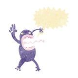 τρελλός βάτραχος κινούμενων σχεδίων με τη λεκτική φυσαλίδα Στοκ φωτογραφία με δικαίωμα ελεύθερης χρήσης