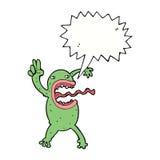 τρελλός βάτραχος κινούμενων σχεδίων με τη λεκτική φυσαλίδα Στοκ φωτογραφίες με δικαίωμα ελεύθερης χρήσης