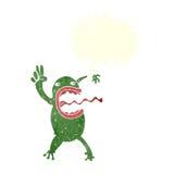 τρελλός βάτραχος κινούμενων σχεδίων με τη λεκτική φυσαλίδα Στοκ εικόνα με δικαίωμα ελεύθερης χρήσης