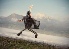 Τρελλός επιχειρηματίας όπως ένα παιδί Στοκ Εικόνα