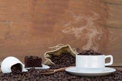 Τρελλός ερωτευμένος με τον καφέ Στοκ Εικόνες