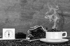 Τρελλός ερωτευμένος με τον καφέ Στοκ φωτογραφίες με δικαίωμα ελεύθερης χρήσης