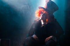 Τρελλός καπελάς στην ακτίνα του φωτός Στοκ Φωτογραφίες