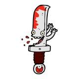 τρελλός κωμικός χαρακτήρας κινουμένων σχεδίων μαχαιριών Στοκ Εικόνες