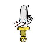 τρελλός κωμικός χαρακτήρας κινουμένων σχεδίων μαχαιριών Στοκ εικόνες με δικαίωμα ελεύθερης χρήσης