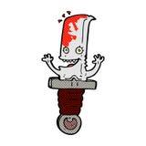 τρελλός κωμικός χαρακτήρας μαχαιριών κινούμενων σχεδίων Στοκ φωτογραφία με δικαίωμα ελεύθερης χρήσης