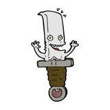τρελλός κωμικός χαρακτήρας μαχαιριών κινούμενων σχεδίων Στοκ Εικόνα