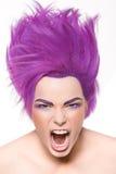 Τρελλός, όμορφος, γοητεία, πρότυπο μόδας Στοκ Εικόνες