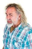 Τρελλό άτομο με το κατσάρωμα του χειλιού Στοκ Φωτογραφίες