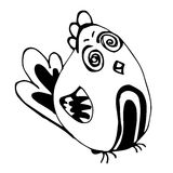 Τρελλό πουλί (σχέδιο μολυβιών) Στοκ φωτογραφία με δικαίωμα ελεύθερης χρήσης