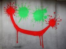 Τρελλό πρόσωπο στον τοίχο Στοκ εικόνα με δικαίωμα ελεύθερης χρήσης