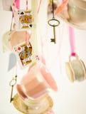 τρελλό τσάι συμβαλλόμεν&omega Στοκ Εικόνα