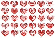 Τριάντα καρδιά, διάνυσμα ελεύθερη απεικόνιση δικαιώματος