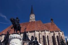 Τριάδα Ρωμαίος - καθολική εκκλησία από το Cluj Napoca Ρουμανία Στοκ εικόνες με δικαίωμα ελεύθερης χρήσης