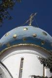 Τριάδα Sergius Lavra στη Ρωσία Θόλος εκκλησιών Dormition Στοκ Εικόνες