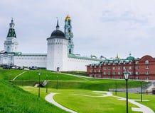 Τριάδα-Sergius Lavra τριάδα του ST sergius της Ρωσίας μοναστηριών posad sergiev χειμώνας της Ρωσίας περιοχών καρτών του Κρεμλίνου Στοκ Εικόνα