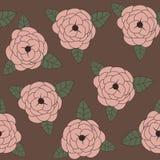 τριαντάφυλλα άνευ ραφής Στοκ Εικόνες