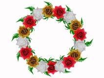 τριαντάφυλλα διακοσμήσ&eps Στοκ εικόνα με δικαίωμα ελεύθερης χρήσης