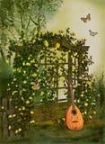 τριαντάφυλλα κήπων διανυσματική απεικόνιση