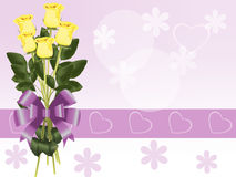 τριαντάφυλλα κίτρινα Στοκ εικόνα με δικαίωμα ελεύθερης χρήσης