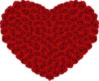 τριαντάφυλλα καρδιών απεικόνιση αποθεμάτων