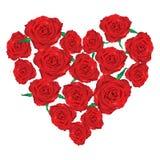 τριαντάφυλλα καρδιών ελεύθερη απεικόνιση δικαιώματος