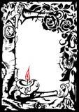 τριαντάφυλλα κεριών διανυσματική απεικόνιση
