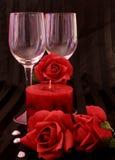 τριαντάφυλλα κεριών στοκ φωτογραφία με δικαίωμα ελεύθερης χρήσης