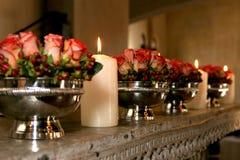 τριαντάφυλλα ντεκόρ Στοκ Φωτογραφία