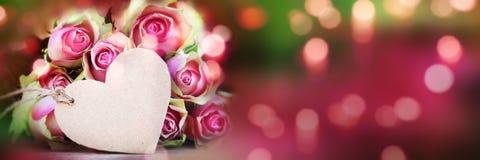 Τριαντάφυλλα bokeh backgroud για την ημέρα μητέρων Στοκ Εικόνα