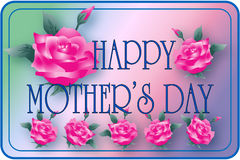 τριαντάφυλλα s μητέρων ημέρα&si στοκ φωτογραφία