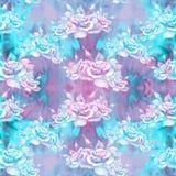 τριαντάφυλλα Αφηρημένη ταπετσαρία με τα floral μοτίβα πρότυπο άνευ ραφής ταπετσαρία Στοκ Εικόνες