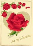 Τριαντάφυλλα βαλεντίνων ελεύθερη απεικόνιση δικαιώματος
