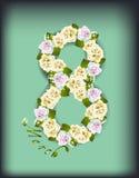 Τριαντάφυλλα για την ημέρα γυναικών Στοκ φωτογραφία με δικαίωμα ελεύθερης χρήσης