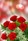 Τριαντάφυλλα για την ημέρα του βαλεντίνου Στοκ εικόνες με δικαίωμα ελεύθερης χρήσης