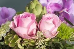 Τριαντάφυλλα στην ανθοδέσμη Στοκ Εικόνες