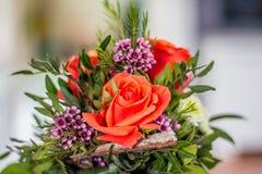Τριαντάφυλλα στη floral ανθοδέσμη Στοκ Φωτογραφία