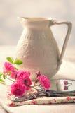 Τριαντάφυλλα στον καθρέφτη Στοκ εικόνες με δικαίωμα ελεύθερης χρήσης