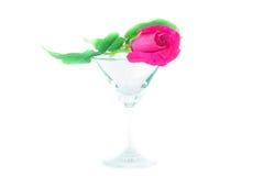 τριαντάφυλλα στο γυαλί στοκ εικόνες