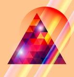Τριγωνικό διαστημικό σχέδιο. απεικόνιση αποθεμάτων