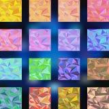 Τριγωνικό σύνολο Διανυσματική απεικόνιση