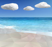 Τριγωνικό ωκεάνιο υπόβαθρο Στοκ εικόνες με δικαίωμα ελεύθερης χρήσης