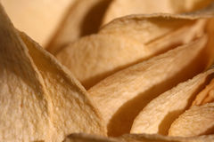 τριζάτη πατάτα τσιπ Στοκ Εικόνες