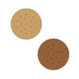 Τριζάτο μπισκότο μπισκότων απεικόνιση αποθεμάτων