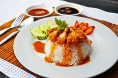τριζάτο ρύζι χοιρινού κρέατ&o Στοκ φωτογραφία με δικαίωμα ελεύθερης χρήσης