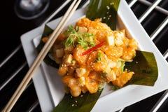 Τριζάτο ταϊλανδικό πιάτο γαρίδων Στοκ φωτογραφία με δικαίωμα ελεύθερης χρήσης