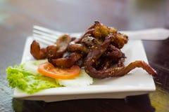 Τριζάτο χοιρινό κρέας, τηγανισμένο χοιρινό κρέας Στοκ Εικόνα