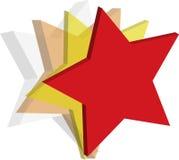 τρισδιάστατα αστέρια Στοκ Φωτογραφία