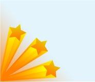 τρισδιάστατα αστέρια Στοκ Εικόνα